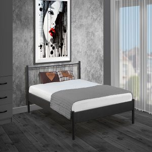 metalen bed Moon in de kleur zwart