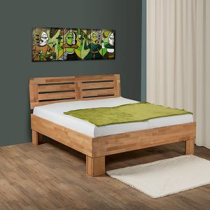 Massief beuken houten bed