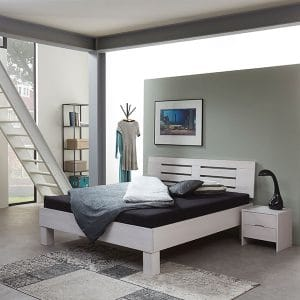 Beuken Basic Boergas 02 massief houten bed